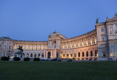 The Hofburg Palace in Vienna. In the evening, Austria Royalty Free Stock Image