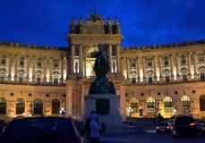 Hofburg Palace Vienna at night Stock Photo