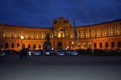 Hofburg Palace Vienna at night Royalty Free Stock Photo