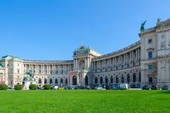 Hofburg-Palast, Monument zu Prinzen Eugene des Wirsings, Wien, Österreich lizenzfreies stockfoto