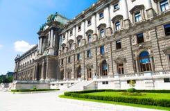 Hofburg que construye vista lateral posterior Fotografía de archivo libre de regalías