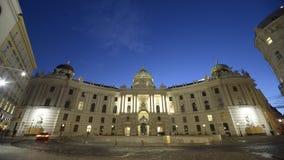 Hofburg slott - den spanska ridningskolan Arkivbild