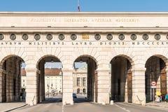 Hofburg slottport i Wien Arkivbild