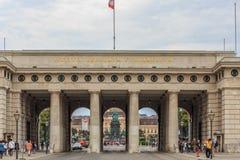 Hofburg slottport i Wien Royaltyfri Bild