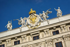 Hofburg, Vienna architecture,  Royalty Free Stock Photos