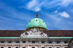 Hofburg Vienna, Michaelertrakt with dome Royalty Free Stock Photos