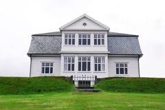 Hofdi dom w Reykjavik, Iceland Obraz Stock