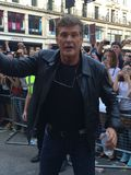 The Hoff. Knighrider star David Hasslehoff at the Gumball3000 in London stock photo