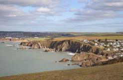 Hoffen Sie Bucht, Devon, England Lizenzfreie Stockfotos