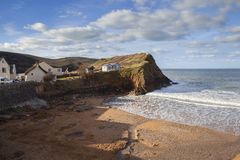 Hoffen Sie Bucht, Devon, England Stockbilder