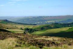 Hoffen Sie Tal von Stanage-Rand, Höchstbezirk, Derbyshire Stockbild