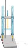 упрощенное hoffman электролиза прибора Стоковые Фотографии RF