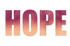 Hoffnung Lizenzfreies Stockfoto