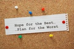 Hoffnung für das Beste Stockbilder