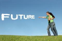 Hoffnung für Zukunft Stockbilder