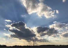 Hoffnung im Himmel stockbilder