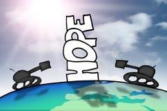 Hoffnung im Krieg Lizenzfreie Stockfotos