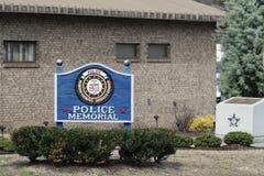 Hoffnung Mills Police Department Officer Memorial, North Carolina, NC 7. April 2018 Stockfotos