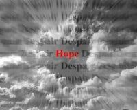 Hoffnung und Verzweiflung Lizenzfreies Stockfoto