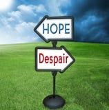 Hoffnung und Verzweiflung Lizenzfreies Stockbild