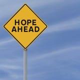 Hoffnung voran Stockbild