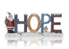 Hoffnung-Weihnachtszeichen Stockfotografie