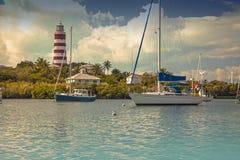Hoffnungs-Stadt, Abakus, Bahamas Stockfotos