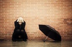 Hoffnungslose Frau Stockfoto