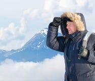 Hoffnungsloser Bergsteiger Lizenzfreie Stockfotos