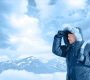 Hoffnungsloser Bergsteiger Stockbilder