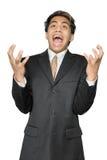Hoffnungsloser junger indischer Geschäftsmann Stockfoto