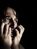 Hoffnungsloser wütender und verärgerter Mann Stockfotografie