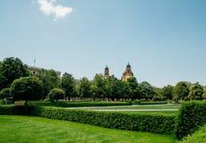 Hofgarten公园在慕尼黑,德国 库存图片