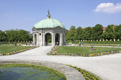 Hofgarten, Court Gardens in Munich, Bavaria. Hofgarten, Court Gardens, Dianatempel, Temple of Diana in Munich, Bavaria, Germany, Europe stock image