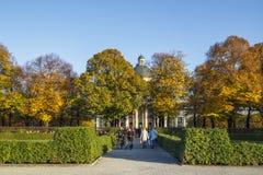 Hofgarten e lo stato bavarese Chancellerey a Monaco di Baviera, Germania Immagini Stock