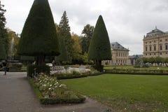 Hofgarten lub Dworscy ogródy przy Wurzburg siedzibą projektujemy w baroku stylu obrazy stock