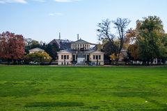 Hofgarten park and Arts museum Stock Image
