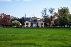 Hofgarten park and Arts museum Stock Image