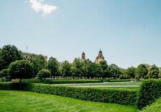 Hofgarten parkerar i Munich, Tyskland Arkivbild