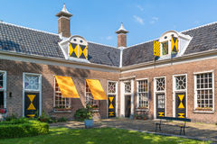 Hofje van Staats courtyard in Haarlem, Netherlands Stock Photo