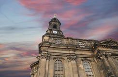 Hofkirche или собор святейшей троицы - барочной церков в Дрезден, Sachsen, Германии Стоковое Изображение RF
