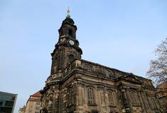 Hofkirche или собор святейшей троицы - барочной церков в Дрезден, Sachsen, Германии Стоковые Изображения