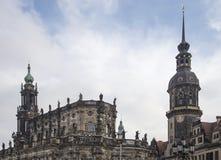 Hofkirche или собор святейшей троицы - барочной церков в Дрезден, Sachsen, Германии Стоковое Изображение