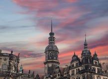 Hofkirche или собор святейшей троицы - барочной церков в Дрезден, Sachsen, Германии Стоковая Фотография RF