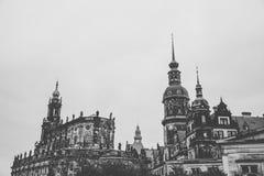 Hofkirche 古老严厉路德教会的大教堂在德累斯顿,德国 德国文化样品  库存图片