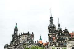 Hofkirche Antyczna Luterańska katedra w Drezdeńskim, Niemcy Antyczna Luterańska katedra w Drezdeńskim, Niemcy Zdjęcie Stock