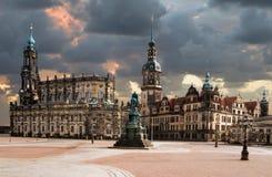 Hofkirche católico en Dresden Imagen de archivo