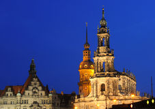 Hofkirche and cathedral in dresden Royalty Free Stock Images