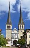 Hofkirche cathedral in Lucerne, Switzerland Stock Images
