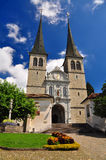 Hofkirche cathedral in Lucerne, Switzerland Stock Photo